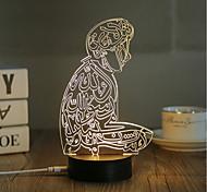 Недорогие -1 комплект 3D ночной свет USB Декоративная