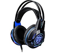 K1 Headband Wired Headphones Dynamic Plastic Gaming Earphone Luminous with Microphone with Volume Control Headset