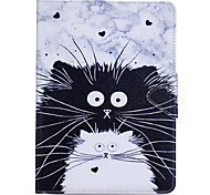 cheap -Case For Apple iPad Mini 4 iPad Mini 3/2/1 iPad 4/3/2 iPad Air 2 iPad Air Card Holder Wallet with Stand Flip Full Body Cases Cat Animal