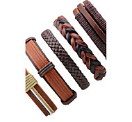 cheap -Men's Women's Leather Bracelet Jewelry Fashion Rock Leather Irregular Jewelry Stage Going out Costume Jewelry Brown