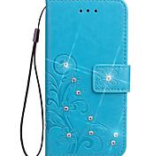 Недорогие -Кейс для галактики Samsung примечание 3 примечание 2 чехол чехол карта держатель кошелек с подставкой флип тиснение полный корпус корпус