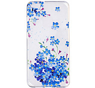 Case For Huawei P10 P10 Lite Case Cover Blue Flowers Pattern Painted High Penetration TPU Material IMD Process Soft Case Phone Case For Huawei Honor 8