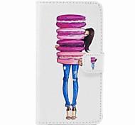 Кейс для Назначение SSamsung Galaxy S8 Plus S8 Кошелек Бумажник для карт со стендом Флип С узором Чехол Продукты питания Твердый
