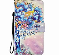 cheap -Case For Huawei P8 LITE P9 LITE Tree Pattern 3D PU Wallet Leather Card Holder with Hand Strap for Huawei P10 P10 LITE Y5 II P8 LITE 2017