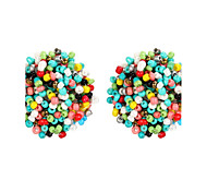 cheap -New Arrival Multicolor Beads Round Acrylic Stud Earrings For Women Geometric Earrings Brincos Piercing Bijoux Maxi Boho Jewelry Fashion