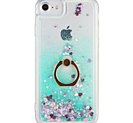 Case for Apple iPhone 7 Plus iPhone 7  Cover Flowing Liquid Ring Holder Back Cover Case Glitter Shine Hard PC for  iPhone 6s Plus iPhone 6