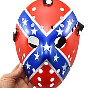 Недорогие -Хэллоуин пористый Джейсон убийца маска звезды и полосы толстый хоррор хоккей косплей карнавал маскарад участник костюм костюм