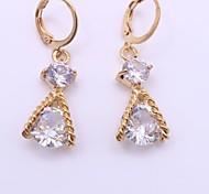 Mujer Pendientes colgantes La imitación de diamante Moda Personalizado Hipoalergénico Legierung Forma de Triángulo Joyas ParaBoda Fiesta