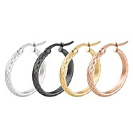 Women's Hoop Earrings Jewelry Basic Stainless Steel Oval Jewelry For Wedding Party Stage Office & Career Street
