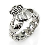 Недорогие -Муж. Жен. Классические кольца Классика Мода Нержавеющая сталь В форме короны Сердце Бижутерия Подарок Для сцены Свидание