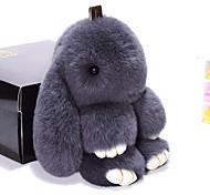 Недорогие -Сумка / телефон / брелок шарм кролик мультфильм игрушка рекс кролик меха 19см
