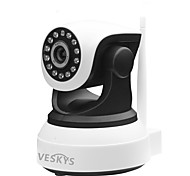 VESKYS® 720P HD Wi-Fi IP Camera w/ 1.0MP Smart Phone Remote Monitoring Wireless Support 128GB TF Card