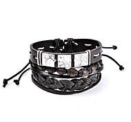 Муж. Жен. Кожаные браслеты Базовый дизайн Мода По заказу покупателя Rock Двухцветные Готика Простой стиль Elegant КожаКруглый