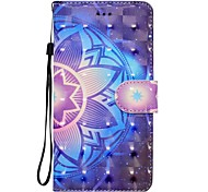 Case For iPhone 7 Plus 7 3D Effect Mandala Pattern Inner Band Chart PU Material Wallet Section Phone Case 6 Plus 6S 5 SE