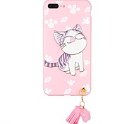 Case for Apple iPhone 7 Plus iPhone 7  Cover Pattern Back Cover Case Cat Cartoon Soft TPU  for iPhone 6s Plus iPhone 6 Plus iPhone 6s iPhone