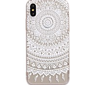 For iPhone X iPhone 8 Case Cover Pattern Back Cover Case Mandala Lace Printing Soft TPU for Apple iPhone X iPhone 8 Plus iPhone 8