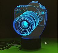 1 Set, Home Bedroom Acrylic 3D Night Light LED Lamp USB Mood Lamp, Available Battery, Colorful, 3W, Camera