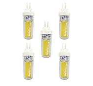 Недорогие -5 ед. 3W G4 Двухштырьковые LED лампы T 2 светодиоды COB Тёплый белый Белый 240lm 3000-3500/6000-6500K AC 220-240V