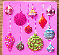 Christmas DIY Silicone Mold Fondant Cake Chocolate Mould Emboss Cutter Candy Decorating Tools