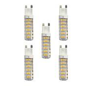 5 pcs 4.5W G9 LED Bi-pin Lights T 76 leds SMD 2835 Warm White White 360lm 3000-3500/6000-6500K AC 220-240V