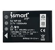 ismartdigi fnp60 3.7v 1000mah аккумулятор для камеры fujifilm np-60 f401 410 420 404 501 601 50i m603