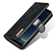 Case For Samsung Galaxy S8 Plus S8 Card Holder Flip Magnetic Full Body Solid Color Hard Genuine Leather for S8 S8 Plus S7 edge S7