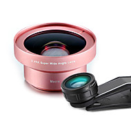 POWCHO WJB Mobile Phone Lens 230 Fish-Eye Lens 0.45X Wide-Angle Lens 12X Macro Lens Aluminium Alloy Glass 52MM For Android Cellphone iPhone