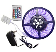 5M 300x5050LED Strip Light Sets  No Waterproof RGB 24 key controller AU / EU / US / UK Power Plug  DC12V 2A AC100-240V