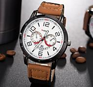 Недорогие -Муж. Модные часы Повседневные часы Наручные часы Уникальный творческий часы Кварцевый PU Группа С подвесками Креатив Люкс Элегантные часы