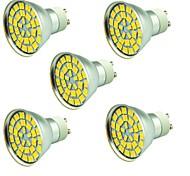 5 piezas 5W Focos LED 55 leds SMD 5730 Decorativa Blanco Cálido Blanco Fresco 800lm 3000-7000K AC 12V