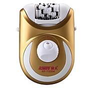 Material de abeto de design handheld kf-ts354 2 em 1 depilador eletrônico lavável à água