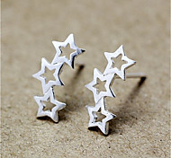 cheap -Women's Star Sterling Silver Stud Earrings - Personalized Fashion Star For Daily Casual