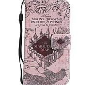 Para iPhone X iPhone 8 iPhone 8 Plus Case Tampa Porta-Cartão Carteira Com Suporte Flip Estampada Corpo Inteiro Capinha Vista da cidade