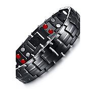 Недорогие -Муж. Браслеты-цепочки и звенья Браслет цельное кольцо Multi-камень Природа Мода Титановая сталь Круглый Бижутерия Бижутерия Назначение