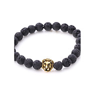 cheap -Men's Women's Bracelet Strand Bracelet Onyx Natural Punk Stone Alloy Irregular Lion Jewelry Party Gift Costume Jewelry Gold Silver