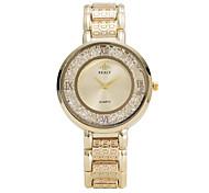 Жен. Модные часы Наручные часы Кварцевый сплав Группа Cool Повседневная Люкс Элегантные часы Серебристый металл Золотистый Розовое золото