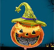 Хэллоуин-бар, украшенный алюминиевыми шарами