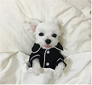 Dog Pajamas Dog Clothes Casual/Daily British White Black Pink Light Blue Costume For Pets