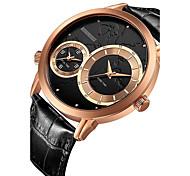 Men's Sport Watch Dress Watch Wrist watch Chinese Quartz Calendar / date / day Chronograph Water Resistant / Water Proof Leather Genuine