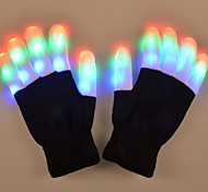 youoklight 1w 6 modo intermitente dedo led guantes de colores regalo 1 par