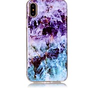 cheap -Case For Apple iPhone X iPhone 8 Ultra-thin Pattern Back Cover Marble Soft TPU for iPhone X iPhone 8 Plus iPhone 8 iPhone 7 Plus iPhone 7