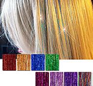 Недорогие -Наращивание волос Прямой Классика Cross Type Повседневные Высокое качество Накладки из натуральных волос