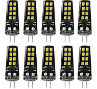 cheap -BRELONG® 10pcs 3W 200 lm G4 LED Bi-pin Lights 16 leds SMD 2835 Warm White White DC 12V