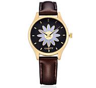 Women's Dress Watch Fashion Watch Wrist watch Casual Watch Chinese Quartz PU Band Candy color Flower Charm Elegant Casual Black White