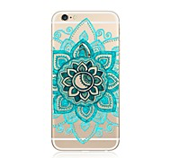 Case For Apple iPhone X iPhone 8 Plus iPhone 7 iPhone 7 Plus Transparent Pattern Back Cover Mandala Lace Printing Soft TPU for iPhone X