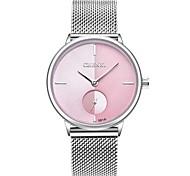 Damen Kinder Modeuhr Armbanduhr Einzigartige kreative Uhr Japanisch Quartz Kalender Chronograph Wasserdicht Edelstahl Band Charme Luxus