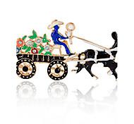 Недорогие -Муж. Жен. Броши Синтетический алмаз обожаемый Рождество Сплав Лошадь Бижутерия Назначение Рождество Подарок