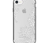 For iPhone 7 iPhone 7 Plus Case Cover Ultra-thin Transparent Pattern Back Cover Case Lace Printing Soft TPU for Apple iPhone 7 Plus