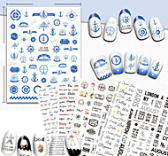 1 Nail Art Sticker  Pattern Accessories Art Deco/Retro 3D Nail Stickers Cartoon 3-D Sticker DIY Supplies Makeup Cosmetic Nail Art Design