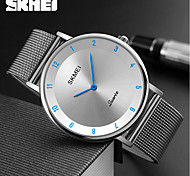 SKMEI Men's Dress Watch Fashion Watch Quartz Water Resistant / Water Proof Stainless Steel Band Charm Luxury Casual Cool Silver